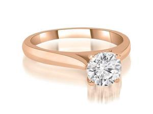 0.35 cttw. Cathedral Solitaire Round Cut Diamond Engagement Ring in 18K Rose Gold (SI2, H-I)