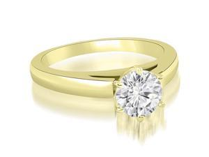 0.35 cttw. Cathedral Solitaire Round Cut Diamond Engagement Ring in 18K Yellow Gold (SI2, H-I)