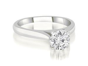 1.00 cttw. Cathedral Solitaire Round Cut Diamond Engagement Ring in Platinum (VS2, G-H)