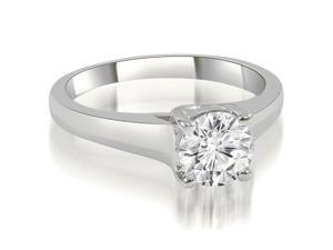 0.35 cttw. Trellis Round Cut Diamond Engagement Ring in 14K White Gold (VS2, G-H)
