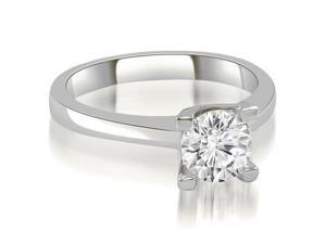 1.00 cttw. Classic Solitaire Round Cut Diamond Engagement Ring in 14K White Gold (VS2, G-H)