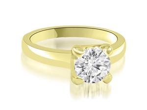 0.35 cttw. 4-Prong Solitaire Round Cut Diamond Engagement Ring in 14K Yellow Gold (VS2, G-H)