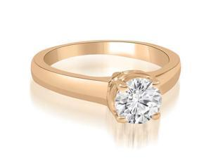 0.45 cttw. Lucida Round Cut Diamond Solitaire Engagement Ring in 14K Rose Gold (VS2, G-H)