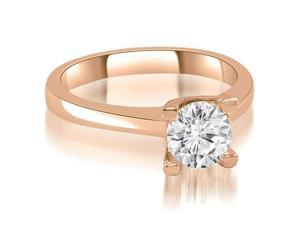 1.00 cttw. Classic Solitaire Round Cut Diamond Engagement Ring in 18K Rose Gold
