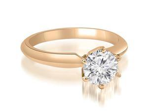 0.45 cttw. Knife Edge Solitaire Round Diamond Engagement Ring in 14K Rose Gold (SI2, H-I)