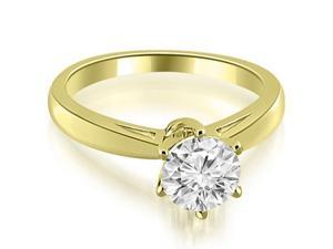 0.50 cttw. Solitaire six Prong Diamond Engagement Ring in 14K Yellow Gold