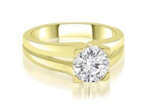 0.50 cttw. Thick Split Shank Round Diamond Engagement Ring in 14K Yellow Gold