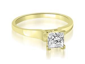 1.00 cttw. Stylish V-Prong Solitaire Diamond Engagement Ring in 18K Yellow Gold