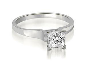 0.75 cttw. Stylish V-Prong Solitaire Diamond Engagement Ring in 14K White Gold