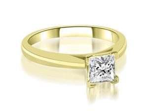 0.45 cttw. Cathedral V-Prong Solitaire Diamond Engagement Ring in 14K Yellow Gold