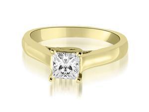 0.50 cttw. Classic Princess Cut Lucida Diamond Engagement Ring in 14K Yellow Gold (VS2, G-H)
