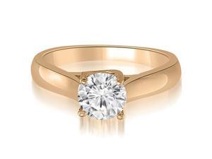 0.50 cttw. Lucida Solitaire Round Cut Diamond Engagement Ring in 14K Rose Gold (VS2, G-H)