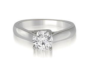0.50 cttw. Lucida Solitaire Round Cut Diamond Engagement Ring in 14K White Gold