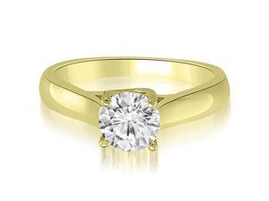 0.50 cttw. Lucida Solitaire Round Cut Diamond Engagement Ring in 14K Yellow Gold