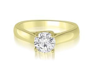 1.00 cttw. Lucida Solitaire Round Cut Diamond Engagement Ring in 18K Yellow Gold