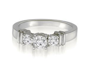 0.45 cttw. Classic Round Cut Three-Stone Diamond Engagement Ring in 14K White Gold (SI2, H-I)