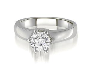 1.00 cttw. 6-Prong Lucida Solitaire Diamond Engagement Ring in 14K White Gold (VS2, G-H)
