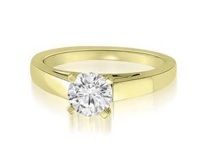 0.50 cttw. Cathedral Solitaire Round Cut Diamond Engagement Ring in 18K Yellow Gold