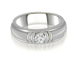 0.50 cttw. Round Diamond Men's Solitaire Ring in 14K White Gold