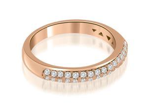 0.35 cttw. Elegant Round Cut Diamond Wedding Ring in 18K Rose Gold (VS2, G-H)