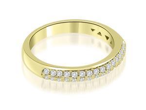 0.35 cttw. Elegant Round Cut Diamond Wedding Ring in 18K Yellow Gold (VS2, G-H)
