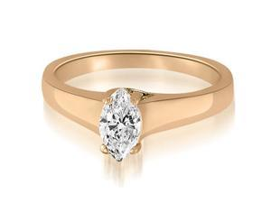 0.50 cttw. Trellis Solitaire Marquise Diamond Engagement Ring in 14K Rose Gold