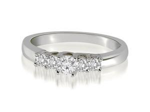 0.25 cttw. Trellis Five-Stone Round Cut Wedding Band in 14K White Gold