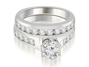 1.90 cttw. Channel Set Round Cut Diamond Bridal Set in Platinum (VS2, G-H)