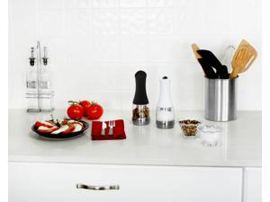 Kalorik Contempo Stainless Steel, Black and White Electric Salt and Pepper Grinder Set