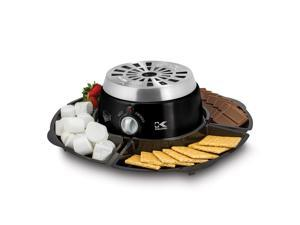 Kalorik Black 2-in-1 S'mores Maker with Chocolate Fondue Feature