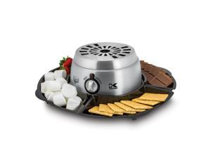 Kalorik Stainless Steel 2-in-1 S'mores Maker with Chocolate Fondue Feature