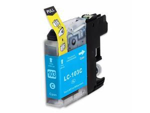 INKUTEN BROTHER MFC-J870DW INK CARTRIDGE (CYAN) COMPATIBLE