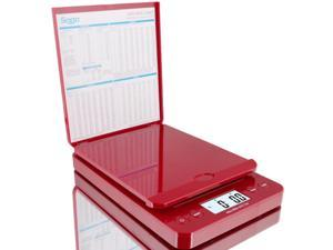 SAGA 66 LB Red DIGITAL POSTAL SHIPPING SCALE by SAGA X 0.1 OZ WEIGHT USPS POSTAGE W/AC USB Pro Model