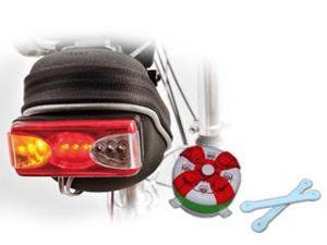 Geeego 2PCS Swap-Color Bike Light + 2in1(Wired Turn Singal+Tail Light) Safety Warning System, 10000MCDx4 + 9 Ultra Bright LEDs, Clear-Display Control Panel for Turn Singal