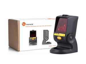 TaoTronics TT-BS015 Orbit Omni-Directional Bar Code Scanner Reader with USB, 5 VDC, 900 mW, 20-line, Black Laser Barcode Scanner