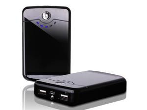 Black Mini Portable 11200mAh USB Power Bank External Battery Charger For iPad 3 2