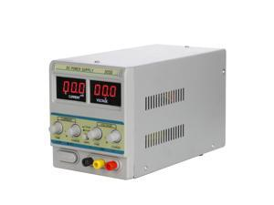 30V/5A DC Power Supply Single-Output 110V/220V Switchable Precision Variable Digital Display Adjustable with Input AC Power Cable for Lab Scientific Use 305D