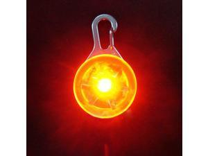 Pet Dog LED Flasher Blinker Circular Light Buckle Clip Safety Pendant Collar Red