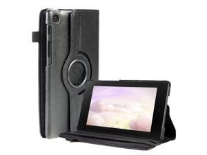 Google Nexus 7 II Case - 360 Degree Rotating Leather Case Smart Cover Stand For Google Nexus 7 II 2nd Gen 2013 Tablet with Auto Sleep & Wake Feature and Stylus Holder Black