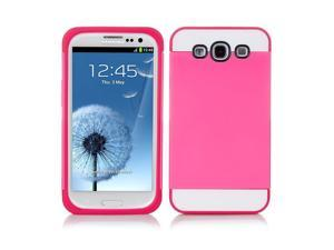 Samsung Galaxy S3 Case - Hybird Dual Layer Soft TPU Silicone Hard Protective Case Cover Skin For Samsung Galaxy S3 SIII I9300 Pink