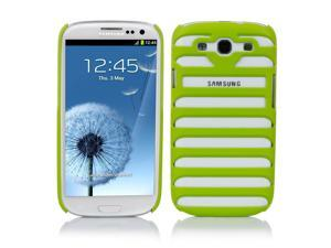 Samsung Galaxy S3 Case - Ladder Shaped Stripe Hollow Pattern Hard Back Case Cover Skin For Samsung Galaxy S3 SIII I9300 Green