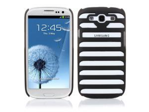 Samsung Galaxy S3 Case - Ladder Shaped Stripe Hollow Pattern Hard Back Case Cover Skin For Samsung Galaxy S3 SIII I9300 Black