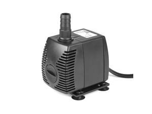 210 GPH Submersible Water Pump Powerhead with Adjustable Flow Rate Suction Cup Mount for Aquarium Fish Tank Fountain Spout Statuary Hydroponic System