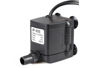160 GPH Submersible Water Pump Powerhead with Adjustable Flow Rate Suction Cup Mount for Aquarium Fish Tank Fountain Spout Statuary Hydroponic System