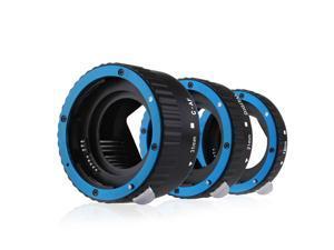Metal AF Macro Extension Tube Set for Canon EOS 6D 650D 7D 550D 450D 5DMkIII Blue