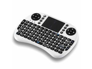 2.4GHz Wireless Mini Handheld Keyboard Mouse Combo with Multi Touchpad for PC Android TV Box PS3 and HTPC IPTV (White)