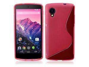 Google Nexus 5 Case - Premium Slim TPU S-Line Back Protective Case Cover Skin For LG Google Nexus 5 Pink