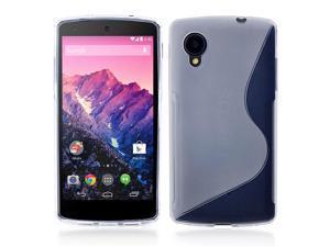 Google Nexus 5 Case - Premium Slim TPU S-Line Back Protective Case Cover Skin For LG Google Nexus 5 Clear
