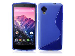 Google Nexus 5 Case - Premium Slim TPU S-Line Back Protective Case Cover Skin For LG Google Nexus 5 Blue