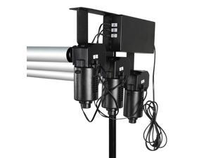 3-Roller Electric Motorized Background Support System with Wireless Remote Controller